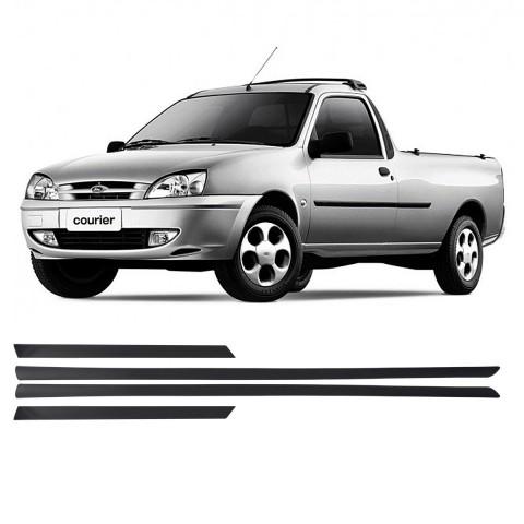 Friso Lateral - Ford Courier 2000 2001 2002 Preto Auto Colante Jogo 4 Peças