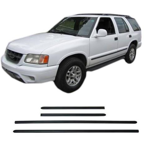 Friso Lateral - Chevrolet Blazer 2000 em diante Preto Auto Colante