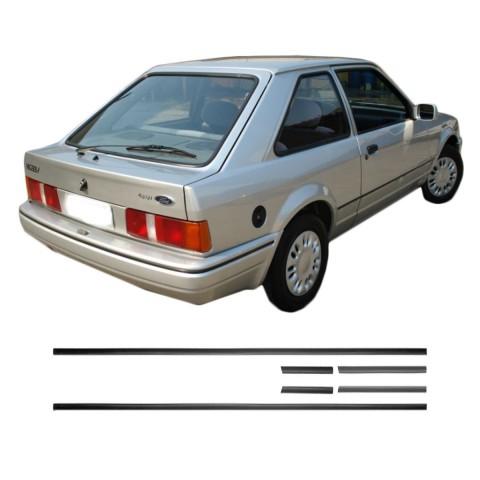 Friso Lateral - Ford Escort L até 92 Preto Auto Colante Jogo 6 Peças